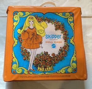 Large Lot of Vintage 1960's Mattel Orange Skipper Doll Case Clothes Accessories