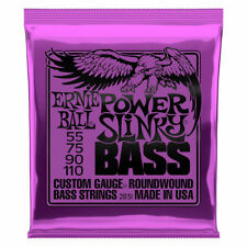 **ERNIE BALL POWER SLINKY 55-110 ELECTRIC BASS GUITAR STRINGS 2831 (4-STRING)**