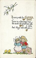 """Antique Postcard """"Easter Day Dutch Girl Cowgirl Series 5097 G.O & D, Ny London"""