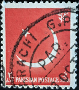 Stamp Pakistan SG83 1956 9th Anniversary of Independence Used