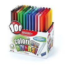 Fibracolor Colouring Pens Colori Conic Tip Fibre Super Washable- Box of 100