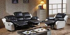 Voll-Leder Couch Sofa Garnitur Relaxsessel Fernsehsofa 5129-3+1-SW sofort