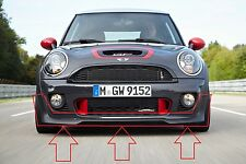 MINI NEW GENUINE R56 LCI R58 R59 JCW FRONT BUMPER LOWER SPOILER BLACK FULL SET