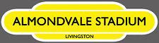 LIVINGSTON F.C. RAILWAY TOTEM FOOTBALL SIGN. INSIDE OR OUTSIDE USE.