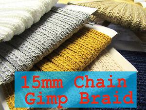 Chain Gimp 14mm Braid Upholstery Edging Trim Chair Blind Costume Furnishing