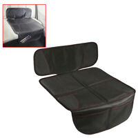 Car Seat Cover Mat Under Carseat Thickest Padding Leather+Fabric Seat Protector