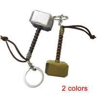 1pc The Avengers Thor's Hammer 3D Metal Keychain Keyring 7.7*3.3cm
