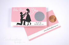 Bridal Shower Engagment Wedding Party Favor Scratch Off Game Card