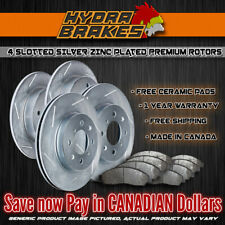 FITS 2004 2005 GMC SAFARI 330MM SLOTTED Brake Rotors CERAMIC SLV