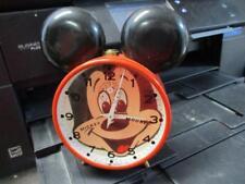 VINTAGE METAL MICKEY MOUSE WIND UP ALARM CLOCK