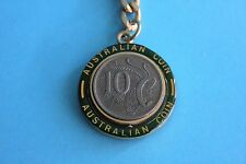 1976 10c Coin in Pivot Keyring Keychain