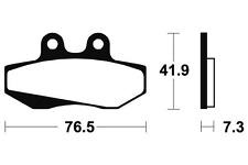 Plaquettes de frein Bendix MA152 Organique pour DERBI