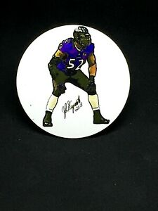 Baltimore Ravens Ray Lewis magnet-Designed by John D'Acquisto-Collectible