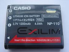 Batterie D'ORIGINE CASIO NP-110 NP110 3.7V 1200mAh GENUINE NEUVE Battery ACCU