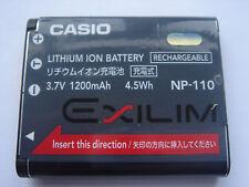 Batterie D'ORIGINE CASIO NP-110 EXILIM EX-ZR15 EX-ZR10 EX-FC200S EX-ZR20 EX-Z230