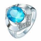 Gorgeous 925 Silver Ring Women White Sapphire Wedding Jewelry Rings Gift Sz 6-10