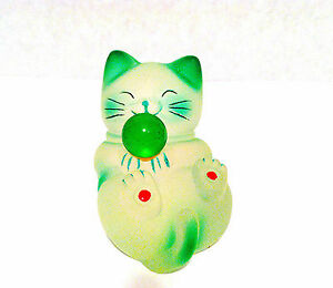 Chinese Fengshui  Lucky Cat Maneki Neko Figurine Cute Kitten in sitting position