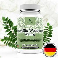 Boswellia Weihrauch 65% Serrata Extrakt 120 vegane Kapseln á 450mg Glutenfrei