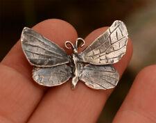 Butterfly Pendant in Sterling Silver, Artisan Butterfly Focal