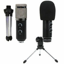 Condenser Microphone USB Wired Cardioid Mic for PC Computer Laptop 3.5mm Cable