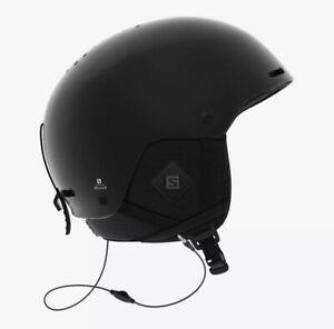 Salomon Brigade + Audio Small Black Helmet - Skiing Snowboarding - MSRP $130