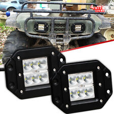 2Pcs Flood Dually Flush Mount 36W  LED Pod Light For Truck Jeep Off-Road ATV