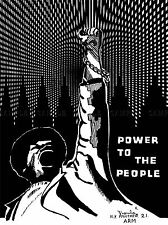 PROPAGANDA POLITICAL BLACK PANTHER POWER PEOPLE LARGE POSTER ART PRINT BB2520A