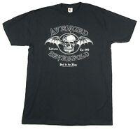 Avenged Sevenfold HTTK Classic Death Bat Dark Grey T Shirt New A7X Hail King