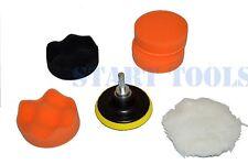 """7pc 3"""" Auto Car Polish Wax Foam Sponge Pad Polisher Buffer Set Drill Adapter Kit"""