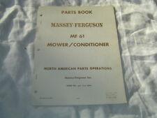 Massey Ferguson MF61 mower conditioner parts book catalog manual