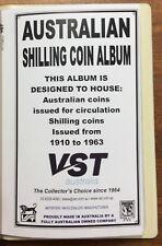 VST Australian coin album for Shilling 1910-1963 brand new - green cover