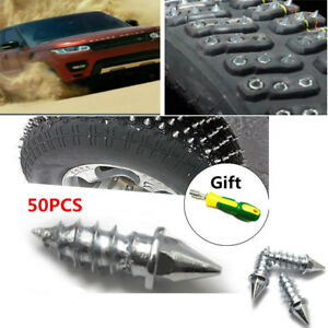 50x ATV Car Motorcycle Tire Snow Spike Stud Thorn Screw Anti-slip Snow Ice Nail