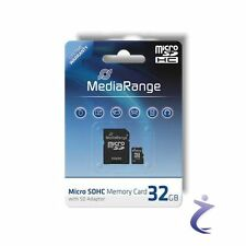 MediaRange 32GB Mobile Micro SDHC Flash Speicherkarte Class 6 + SD Card Adapter