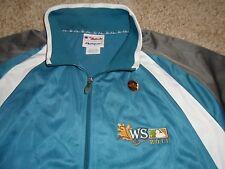 Mens Majestic THERMA BASE 2011 World Series Jacket Fleece 2XL Cardinals Rangers