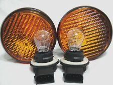 Front Turn Signal Parking light Lamps w/2 Bulbs One Pair Fit 2007-2013 Wrangler