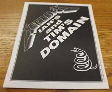 OTTO Backstage Concert Door Sign Metallica IAN TIM's DOMAIN Wherever We May Roam