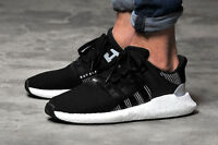 Adidas EQT Support 93/17 Men's Trainers Sneakers Shoes Black Lightweight Genuine