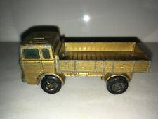 RARE VINTAGE 1970 Matchbox Gold Mercedes Truck Lesney No.1 SUPERFAST
