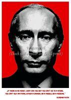 "ANDY WARHOL Inspired Poster Print VLADIMIR PUTIN Portrait & Quote 18x24"" #ON13"