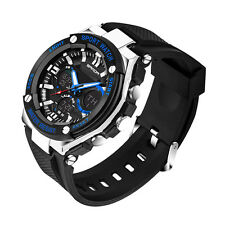 Fashion Military LED Date Alarm Stainless Steel Men's Army Quartz Sports Watch