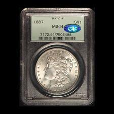 1887 Morgan Silver Dollar CAC and PCGS MS 64 - Free Shipping USA