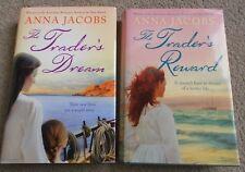 Bulk x 2 - Anna Jacobs -The Trader's Dream & Trader's Reward -Books 3&5 - HC- DJ