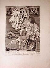 ITALIA/ ITALY. Religión.Sacrificio de un toro.Sacrifice of a bull. Barbault,1761