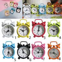 Non-ticking Quartz Analog Twin Bell Alarm Clock Mini Cute Bedsides Clock