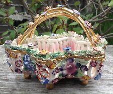 Superb Italian MidCentury Ceramic Pottery Star Shaped Flower Basket Trinket Bowl
