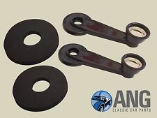 TRIUMPH TR7 & TR8 WINDOW WINDER HANDLES & REAR FOAM SEALS x 2 (611733, CZA7109)