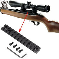 Scope Sight Mount Low Profile Base Weaver Picatinny Rail Slot For Ruger 10 22 11