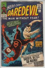 Daredevil # 7 -VG Key 1st red costume Sub-mariner x-over cents 1965
