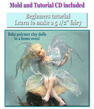 """Katie 5 1/2"""" fairy polymer doll press mold + instructions by Patricia Rose"""