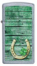 ZIPPO LIGHTER STREET CHROME SLIM HORSE SHOE (91123) GIFT BOXED - AU STOCK !